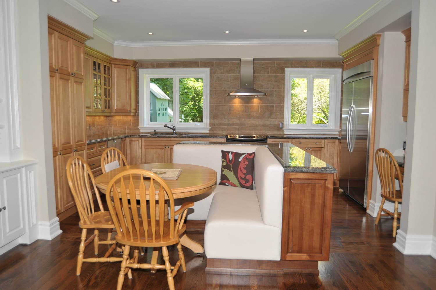 Royal Maple Natural and Island Stained Fruitwood and Chocolate Glazed___aa3___Meadowbank Rd.  Etobicoke.